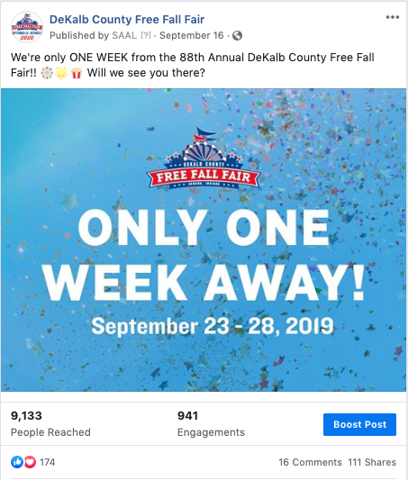 DeKalb County Free Fall Fair